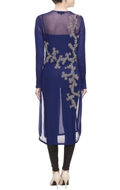 Blue kurta with embroidery