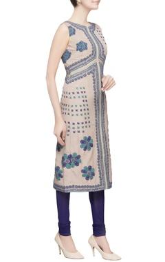 Blue ethnic embellished kurta set