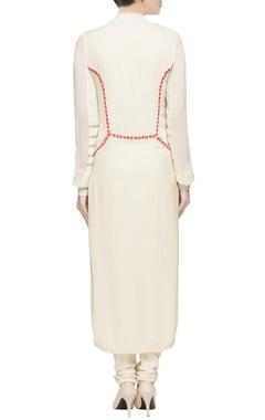 White ethnic long kurta set