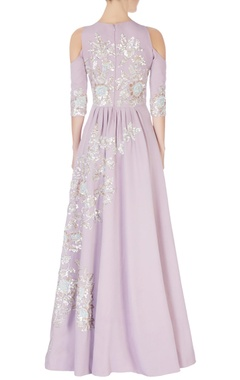 lavender cold-shoulder sequin anarkali