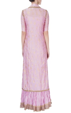 Onion Pink kurta with shiny bead work