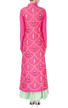 Pink embroidered kurta & anarkali
