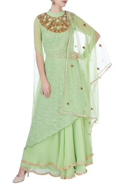 Mint green lehenga & sequin kurta