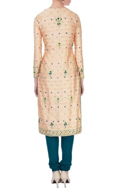 Off-white gota embroidery chanderi  kurta set