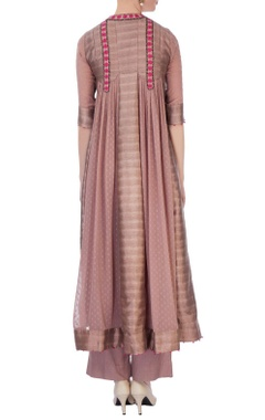 Dusty pink viscose silk kurta & pants