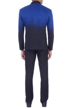 blue & black dapper formal jacket