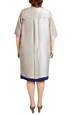 grey dupion silk tile print jacket