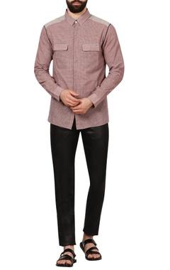 multicolored check handloom cotton shirt