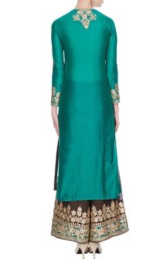 Green gota patti embroidered kurta set