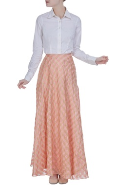 Tissue woven flared skirt