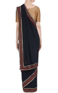 Sequin & bead embellished saree
