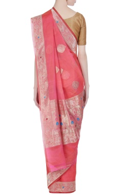Banarasi kora silk saree with unstitched blouse