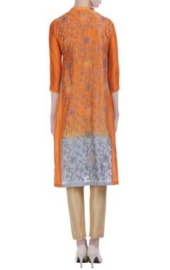 Kantha embroidered silk kurta.
