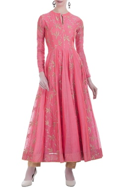 Long anarkali zari embroidered kurta