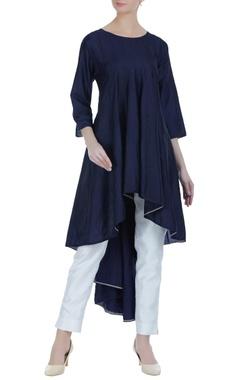 High-low style silk tunic dress.