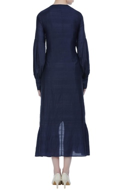 High-low panelled dress.