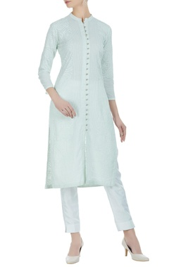 Anjul Bhandari Chikan embroidered kurta with slits