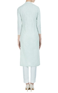 Chikan embroidered kurta with slits