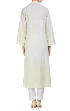 Chikan embroidered kurta with pearls
