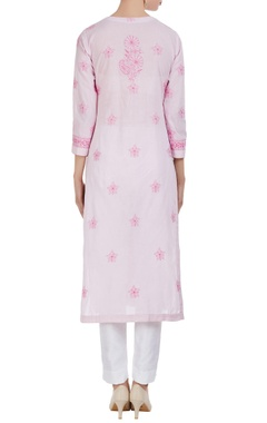 Chikan embroidered overlap kurta