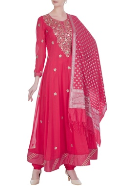 Gota patti embroidered anarkali set