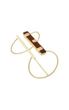 Gold & wooden cuff