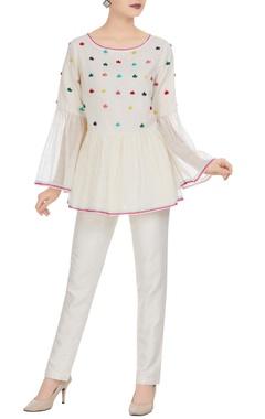 Rimzim Dadu Kota doria flared sleeves angrakha blouse