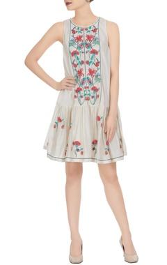Rimzim Dadu 3D floral embroidered mini dress