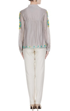 Floral embroidered angrakha blouse