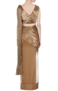Zari & tassel concept saree