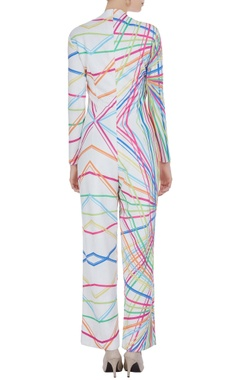 Blue & white scuba jumpsuit