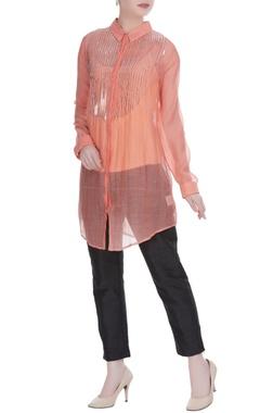 Peach embellished tunic