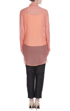 Peach embellished tunic