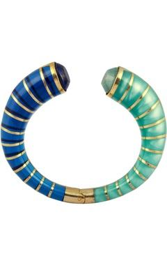 Amazonite cuff bangle