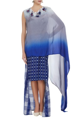 Wrap style hand-woven dress