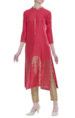 RAR Studio Chanderi jaal work kurta