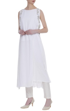 Rriso Double georgette bead embroidered tunic