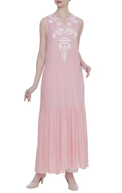Rriso Sleeveless sequin embroidered long dress