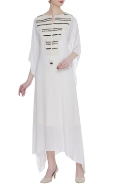 Rriso Double georgette bead embroidered kaftan