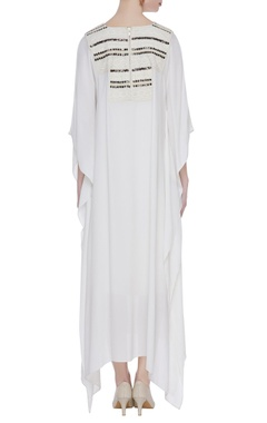Double georgette bead embroidered kaftan
