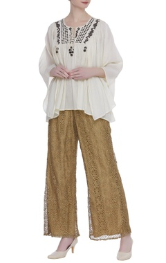 Rriso Cutwork embroidered palazzo pants