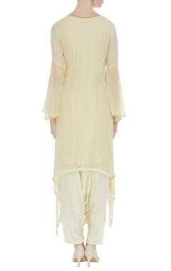 Resham embroidered kurta with inner & pants