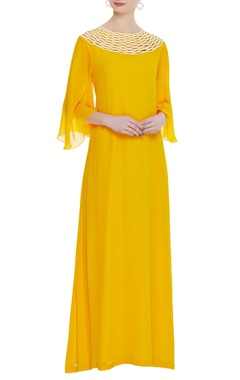 Urvashi Joneja Flared sleeves maxi dress