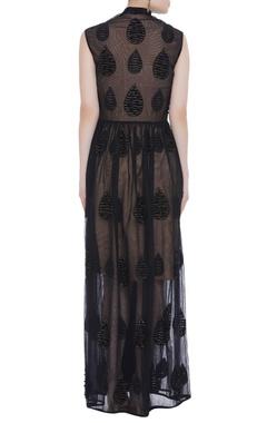 Textured net gown