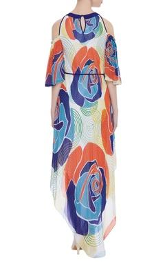 Cutout sleeves maxi dress