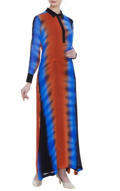 Urvashi Joneja Shirt maxi dress with asymmetric hemline