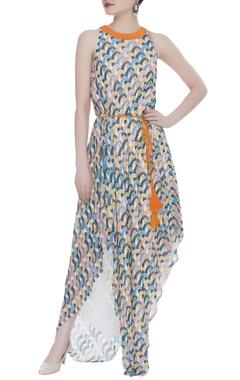 Urvashi Joneja Asymmetric hemline maxi dress