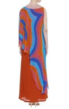 Flared long maxi dress