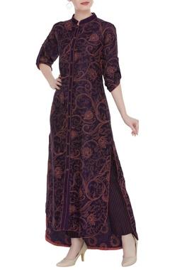 Shruti Sancheti Printed asymmetrical kurta and trouser