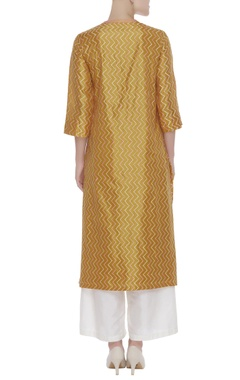 Threadwork embrodiered kurta with palazzo and dupatta